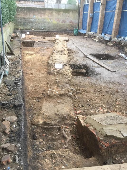 Excavation close to Roman basilica
