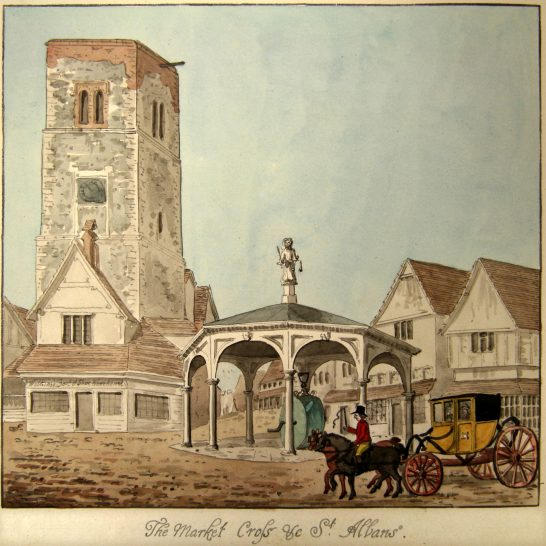 The Clock Tower in the 18th century | Oldfield, courtesy of St Albans Museum