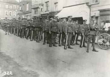 Soldiers at ease in High Street c.1915 | HALS
