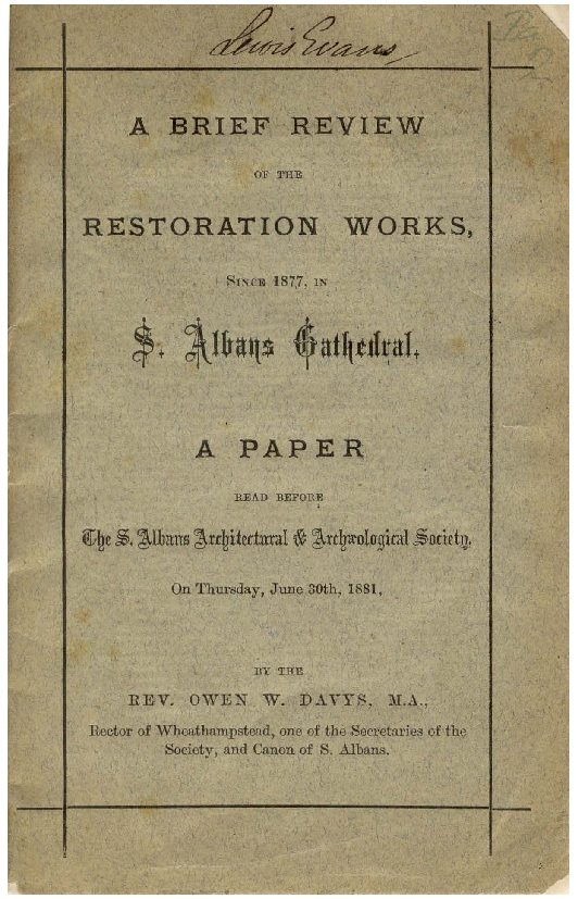 Early publications: 1881