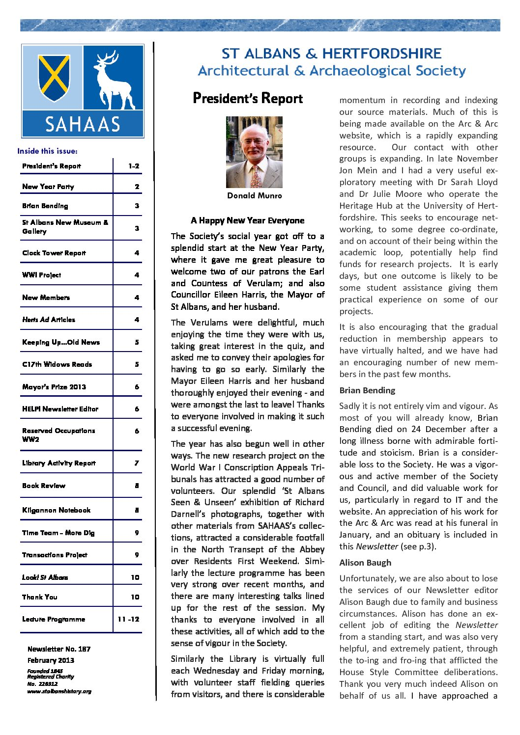 SAHAAS Newsletters