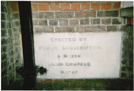 Foundation stone for the new Public Library 1880