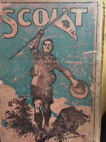 Front Cover of 'The Scout', bound copy of the weekly Scout magazine from 19 September 1917 to 10 August 1918.  | Peter Bourton