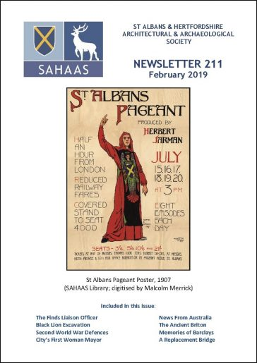 SAHAAS newsletter front cover, February 2019 | SAHAAS