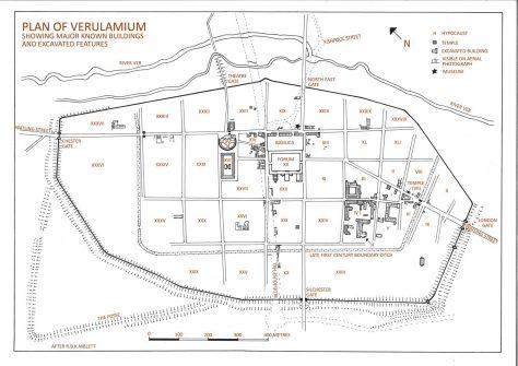 Map of Verulamium