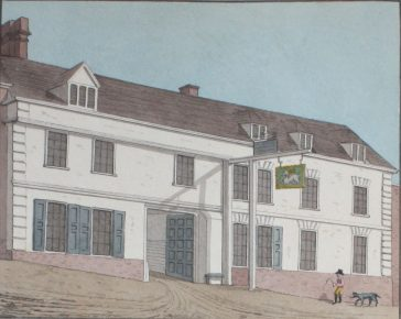 Fig. 1: White Hart, Holywell Hill, c.1800 | Courtesy of HALS - Oldfield Vol.8 pg.488