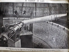Refractor installed in the Johannesburg Observatory | Tyne & Wear Archives, Newcastle