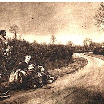 A vintage postcard of 'Hard Times' painted by the Bushey artist Hubert von Herkomer in 1885 (SAHAAS) | SAHAAS