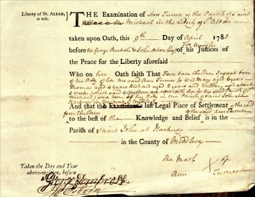 Settlement certificates issued by St Michael's parish in the 18th century illustrate the humiliation of becoming destitute in a place where you had no legal right to poor relief, or were caught begging and branded a rogue and vagabond. | St Michael's Church/Frank Iddiols.