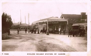 The photograph shows the pretty Victorian station at St Albans in c. 1910.  | Andy Lawrence