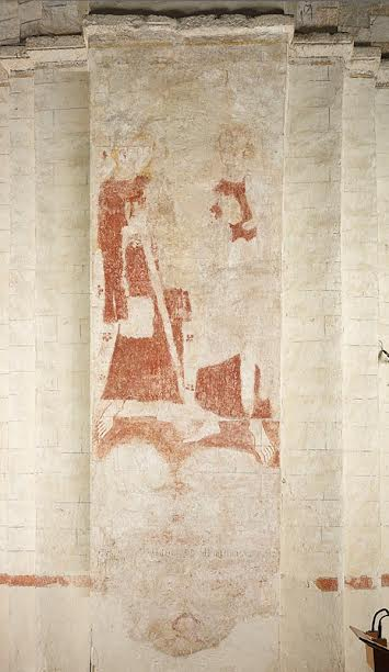 The wall painting in its natural state | © Cathedral and Abbey Church of St Alban