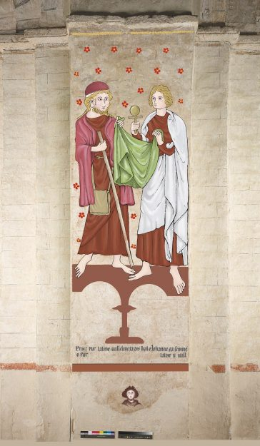 Digitally enhanced wall painting | © Cathedral and Abbey Church of St Alban