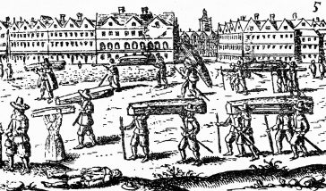 A view of the Great Plague in London, 1665