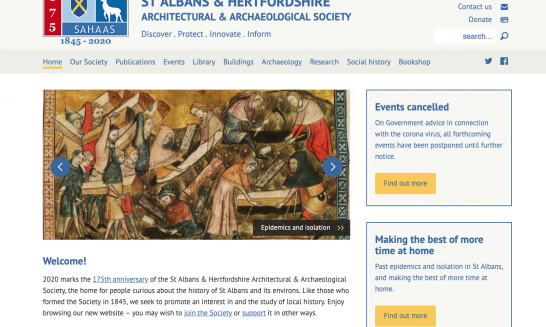 The Society's website