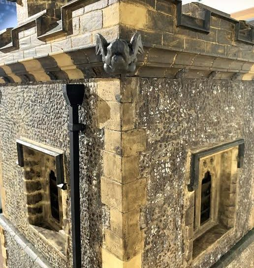 Detailing showing the corner of the top of the tower | Caroline Howkins