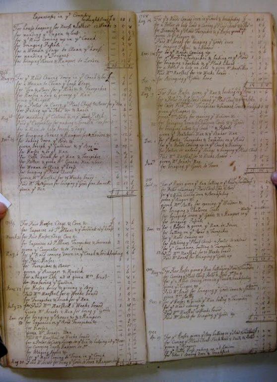 Elizabeth Ashurst's household account book | Kate Moss